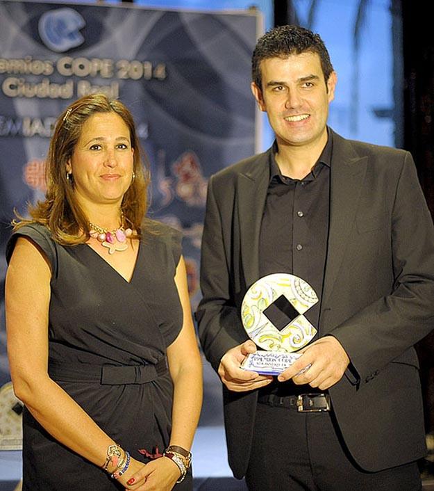 Alejandro de Miguel junto a Rosa Romero Alcaldesa de Ciudad Real